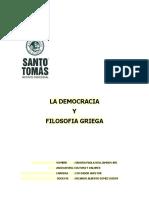 Trabajo de La Democracia y La Filosofia Griega