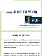 1. Serie de Taylor