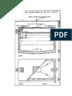 Modelo de Tanque Septico de Una Camara, Norma Sanitaria, Venezuela, GO 4044