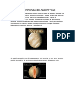 Caracteristucas Del Planeta Venus