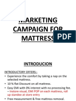 Marketing Campaign for Mattress New