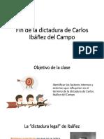 Fin de La Dictadura de Carlos Ibáñez Del
