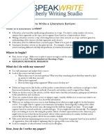 how to write a literature review - final ag