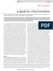 Early Warning Signals for Critical Transitions (Scheffer 2009)