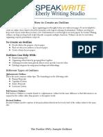 how to create an outline - final ag