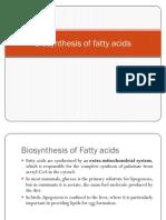 Bio Synthesis of Fatty Acids