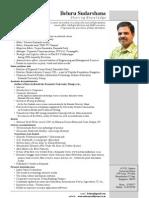 Beluru Sudarshana Profile in Brief