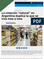 """La Inflación """"Natural"""" en Argentina Duplica La Que Se Vive Mes a Mes - Ambitoco"""