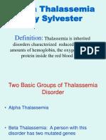 Beta Thalassemia