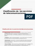 Clasificación de Los Servicios de Telecomunicaciones