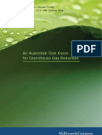 Australian Cost Curve for GHG Reduction - McKinsey