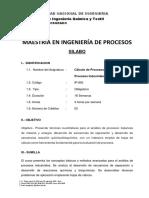 Calculo de Procesos I