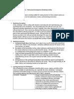 professional development workshop outline mcewan