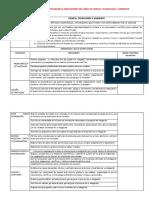 Matriz de Capacidades e Indicadores Del Área de Ciencia