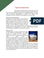 Tipos de Impresora