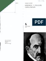 Alonso, Dámaso - Estudios y Ensayos Gongorinos (SELECCIÓN «Claridad y Belleza», «Alusión y Elusión», «Bimembración» y «Correlaciones») (1955)