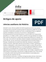 Artigo de Apoio Infopédia - Ciências Auxiliares Da História