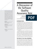 Discussion of the Software Quality Assurance Role