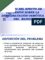 Estudio Del Efecto de La Presión Sobre La osmodeshidratacion