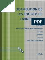 Distribucion de Los Equipos de Laboratorio