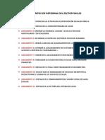 Lineamientos de Reforma Del Sector Salud 001
