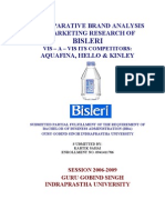 Bisleri Marketing & Competitor Analysis New Project