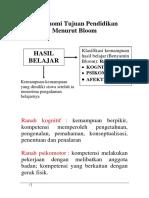 Bahan Ajar (Minggu Ke 3) Taksonomi Bloom