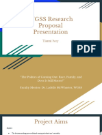 wgss research proposal presentation