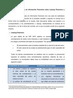 Normas Internacionales de Información Financiera Sobre Leasing Financiero y Operativo