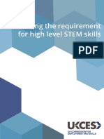 High Level STEM Skills Requirements in the UK Labour Market