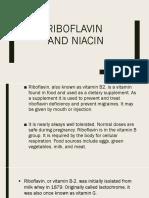 Ribofalvin and Niacin Report