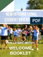 New International Student 2018 Booklet!
