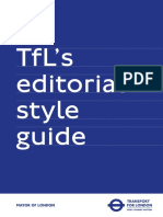 Tfl Editorial Style Guide