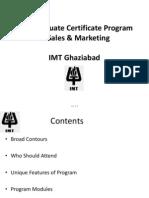 Detailed Program Content - PGCSM
