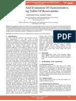 Development and Evaluation of Gastroretentive Floating Tablet of Rosuvastatin