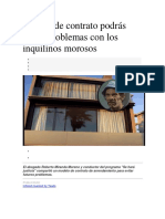 Modelo de Contrato Podrás Evitar Problemas Con Los Inquilinos Morosos