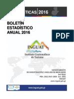 Boletin Estadistico Turismo 2016