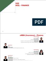 Insurance Finance 2009