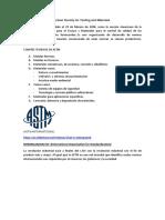 Normalización ASTM