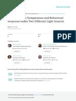 Broiler Surface Temperature and Behavioral Respons