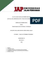 Monografia de Economia y Finanzas