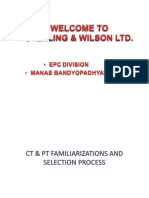 Selection of CT & PT