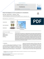 Recent Development of Novel Membranes for Desalination 2018 Desalination