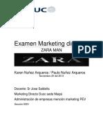Examen Mkt Directo Zara