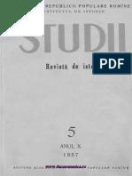 Studii. Revista de Istorie, 1957