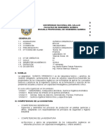 Silabo Quimica Organica II.- 2018-A