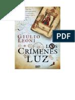 Giulio Leoni - Los Crimenes de La Luz _2014
