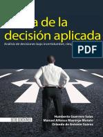 Teoría de La Decisión Aplicada 1ra Edición