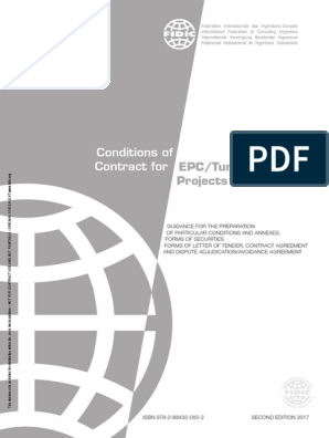 fidic silver book pdf free download