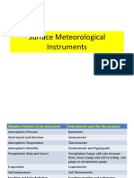 Surface Meteriological Instruments